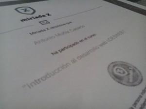Detalle diploma MiriadaX : MOOC IdesWeb