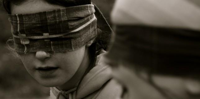 Niños con ojos vendados gritando por que no encuentran un nombre de dominio