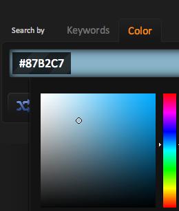 Buscador por color predominante