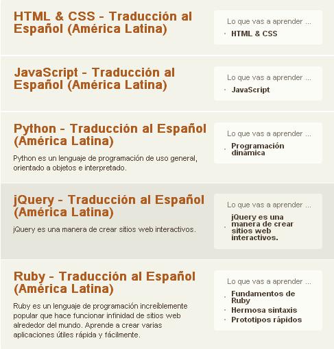 codeacademy castellano