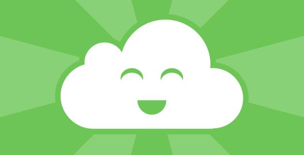 Logo de feedly con la cara sonriente.