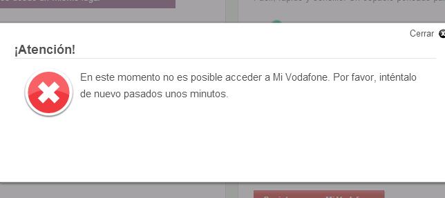 Mi Vodafone caido