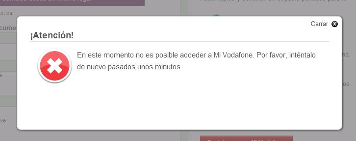 Mi Vodafone Caído