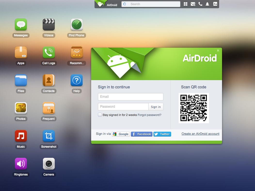 Airdroid WebApp