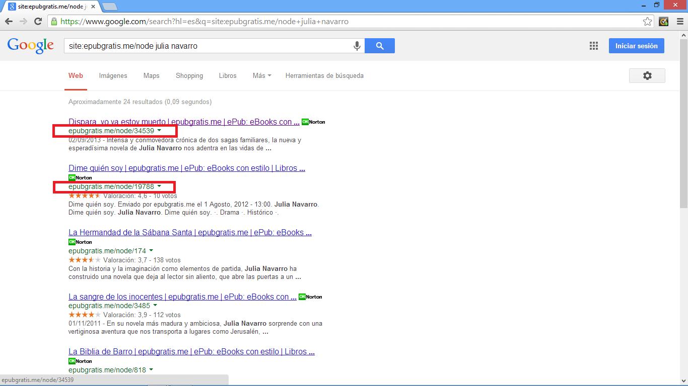 Pantalla de búsqueda de la página epubgratis.me