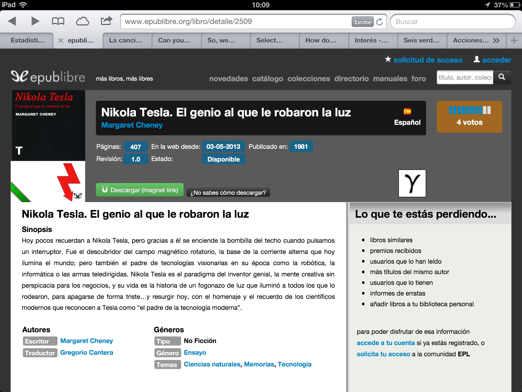 EPub, Descarga En IPad