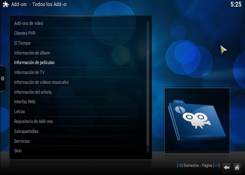 fuente nueva en XBMC 01