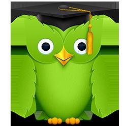 owl-graduated duolingo